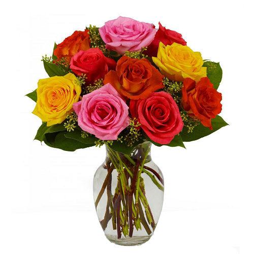 Mixed roses arrangements